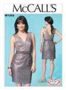 McCalls Ladies Sewing Pattern 7282 Lined Dress with Exposed Back Zip