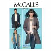 McCalls Ladies Sewing Pattern 7290 Unlined Waistcoats & Jackets
