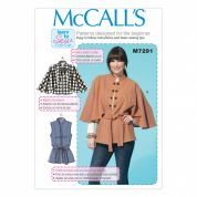 McCalls Ladies Easy Learn To Sew Sewing Pattern 7291 Capeletes, Waistcoat & Belt