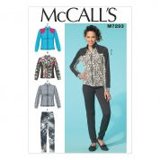 McCalls Ladies Easy Sewing Pattern 7293 Jacket & Pants Tracksuit