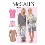McCalls Ladies Easy Sewing Pattern 7297 Dressing Gown, Nightie & Pyjamas