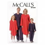 McCalls Family Easy Sewing Pattern 7299 Pyjamas & Nightshirt