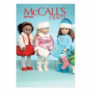 McCalls Doll Clothes & Toys Easy Sewing Pattern 7300 Clothes & Christmas Accessories
