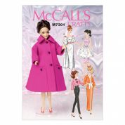 McCalls Doll Clothes Easy Sewing Pattern 7301 Complete Wardrobe