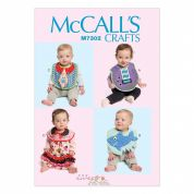 McCalls Baby Easy Sewing Pattern 7302 Fun Novelty Bibs