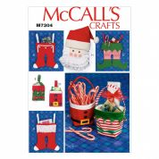 McCalls Crafts Easy Sewing Pattern 7304 Christmas Decorations