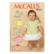 McCalls Toddlers Easy Sewing Pattern 7307 Ruffled Dresses & Panties