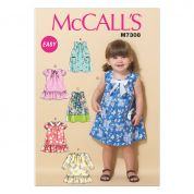 McCalls Toddlers Easy Sewing Pattern 7308 Tent Dresses