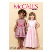 McCalls Girls Easy Sewing Pattern 7311 Sleeveless Dresses & Belt