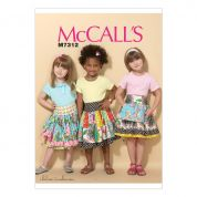 McCalls Girls Easy Sewing Pattern 7312 Ruffled Colorblock & Patchwork Skirts