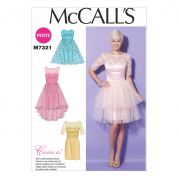 McCalls Ladies Sewing Pattern 7321 Sweetheart Neckline Party Dresses