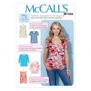 McCalls Ladies Easy Learn to Sew Sewing Pattern 7322 Pullover Tops