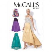 McCalls Ladies Easy Sewing Pattern 7329 Gathered Skirts
