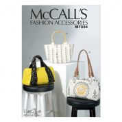 McCalls Accessories Easy Sewing Pattern 7334 Bags in Three Styles