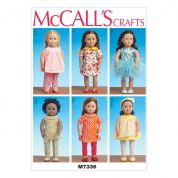 McCalls Crafts Easy Sewing Pattern 7336 Doll Clothes for 18inch Dolls