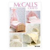 McCalls Crafts Easy Sewing Pattern 7338 Embellished Beds & Linens for 18inch Dolls