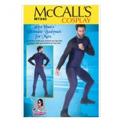 McCalls Mens Easy Sewing Pattern 7340 Zippered Bodysuit
