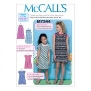 McCalls Girls Easy Learn to Sew Sewing Pattern 7344 Raglan Sleeve Knit Dresses