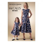 McCalls Ladies & Girls Easy Sewing Pattern 7354 Matching Back Wrap Dresses