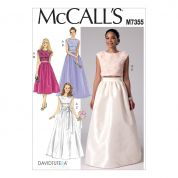 McCalls Ladies Easy Sewing Pattern 7355 Crop Top & Gathered Skirts