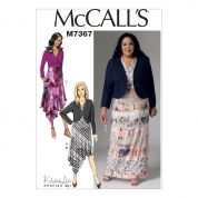 McCalls Ladies Easy Sewing Pattern 7367 Shrug & Surplice Dresses