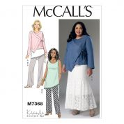 McCalls Ladies Easy Sewing Pattern 7368 Asymmetrical Jacket, Tunic, Gored Skirt & Pants