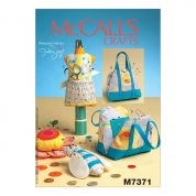 McCalls Craft Easy Sewing Pattern 7371 Mannequin, Purse, Flower & Bee Shaped Pin Cushions
