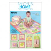 McCalls Baby Easy Sewing Pattern 7372 Nursery Blanket, Pillow & Organization Accessories