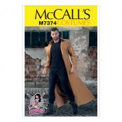 McCalls Mens Sewing Pattern 7374 Collared & Seamed Coats