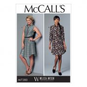 McCalls Ladies Sewing Pattern 7380 Button Up Collared Dresses