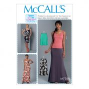McCalls Ladies Easy Learn to Sew Sewing Pattern 7386 Knit Tank Top, Dresses & Skirts