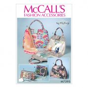McCalls Accessories Easy Sewing Pattern 7395 Cosmetic Bags in Four Styles