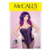 McCalls Ladies Sewing Pattern 7398 Bodysuit Corset, Collar, Cuffs & Tail