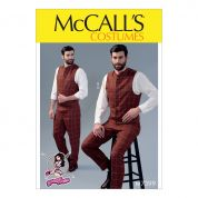 McCalls Mens Sewing Pattern 7399 Single & Double Breasted Waistcoats & Flat Front Pants