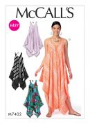 McCalls Ladies Easy Sewing Pattern 7402 Handkerchief Hem, Tent Dresses & Jumpsuit