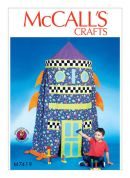McCalls Childrens Easy Sewing Pattern 7419 Rocket Play Tent