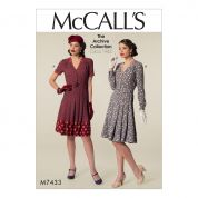 McCalls Ladies Sewing Pattern 7433 Vintage Style Shirt Dresses & Belt