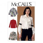 McCalls Ladies Easy Sewing Pattern 7436 Notch Neck Blouse Tops
