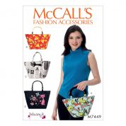 McCalls Accessories Sewing Pattern 7449 Handle Bags & Totes