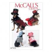 McCalls Pets Sewing Pattern 7452 Dogs Steampunk Pet Costumes