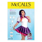 McCalls Ladies Sewing Pattern 7455 Skirted Leotards with Mix & Match Design Variations