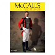 McCalls Mens Sewing Pattern 7457 Embellished Jacket, Pull On Pants & Cravat
