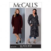 McCalls Ladies Easy Sewing Pattern 7479 Wrap Coats & Belt