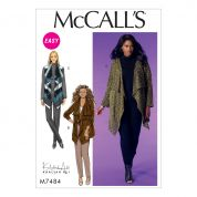 McCalls Ladies Easy Sewing Pattern 7484 Draped Cardigans & Waistcoat