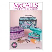 McCalls Accessories Easy Sewing Pattern 7487 Travel Cases in Three Sizes
