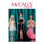 McCalls Crafts Sewing Pattern 7488 Special Occasion Dresses for Dolls