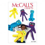 McCalls Crafts Easy Sewing Pattern 7489 Plush Robot Toys