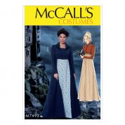 McCalls Ladies Easy Sewing Pattern 7493 Vintage Style Cropped Jacket, Coat & Dress