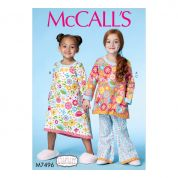 McCalls Girls Easy Sewing Pattern 7496 Banded Top, Dress & Pants
