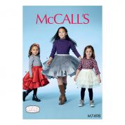 McCalls Girls Easy Sewing Pattern 7498 Tiered & Ruffled Skirts
